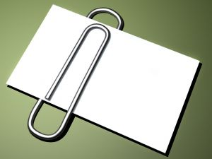 CardWithPaperClip