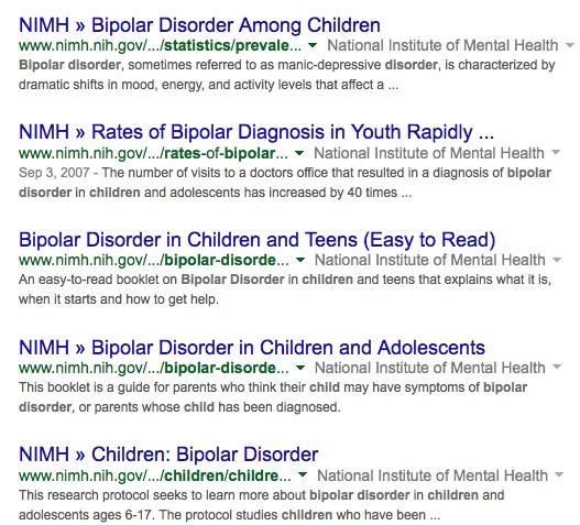 bipolar statistics children site_gov - Google Search - (Private Browsing)