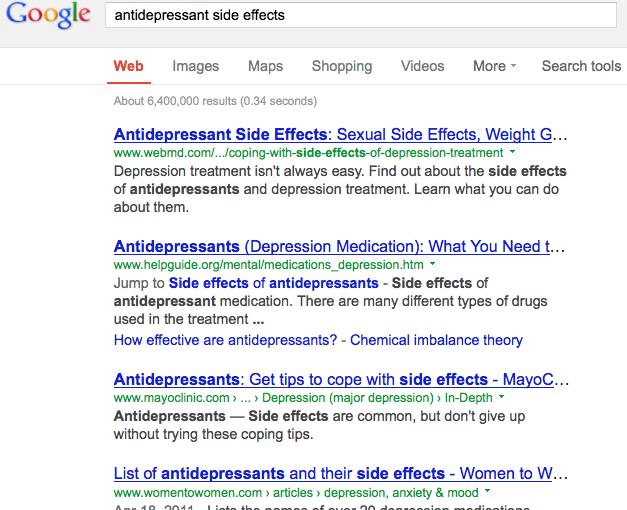 Google-antidep-sideeffects