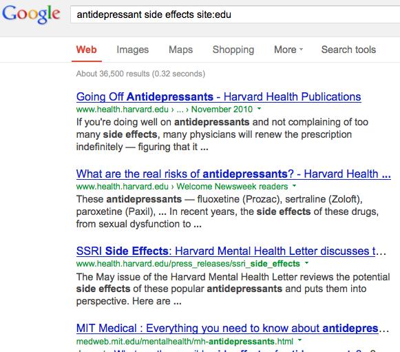 Google-antidep-sideeffects-siteedu