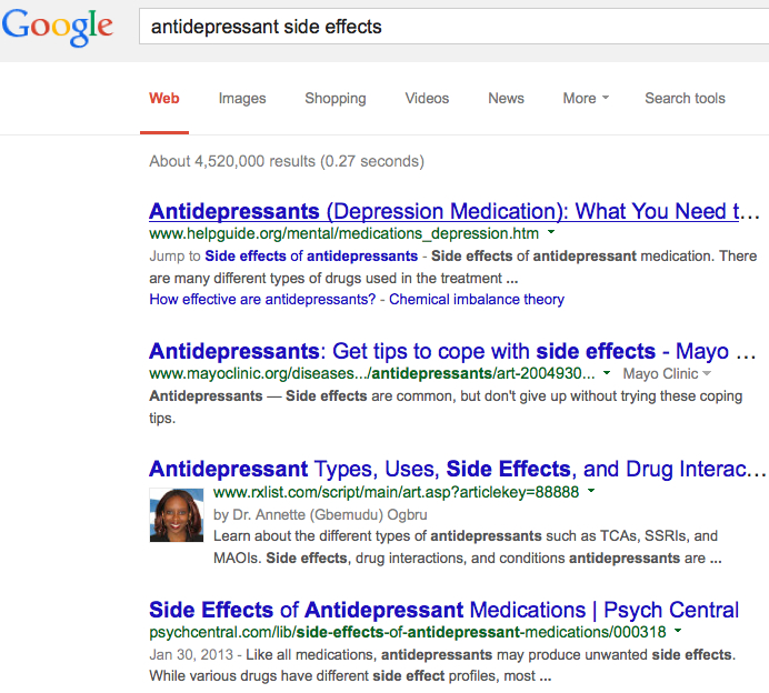 Google-antidepressant-side-effects