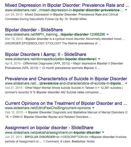 bipolar disorder statistics site_slideshare.net - Google Search