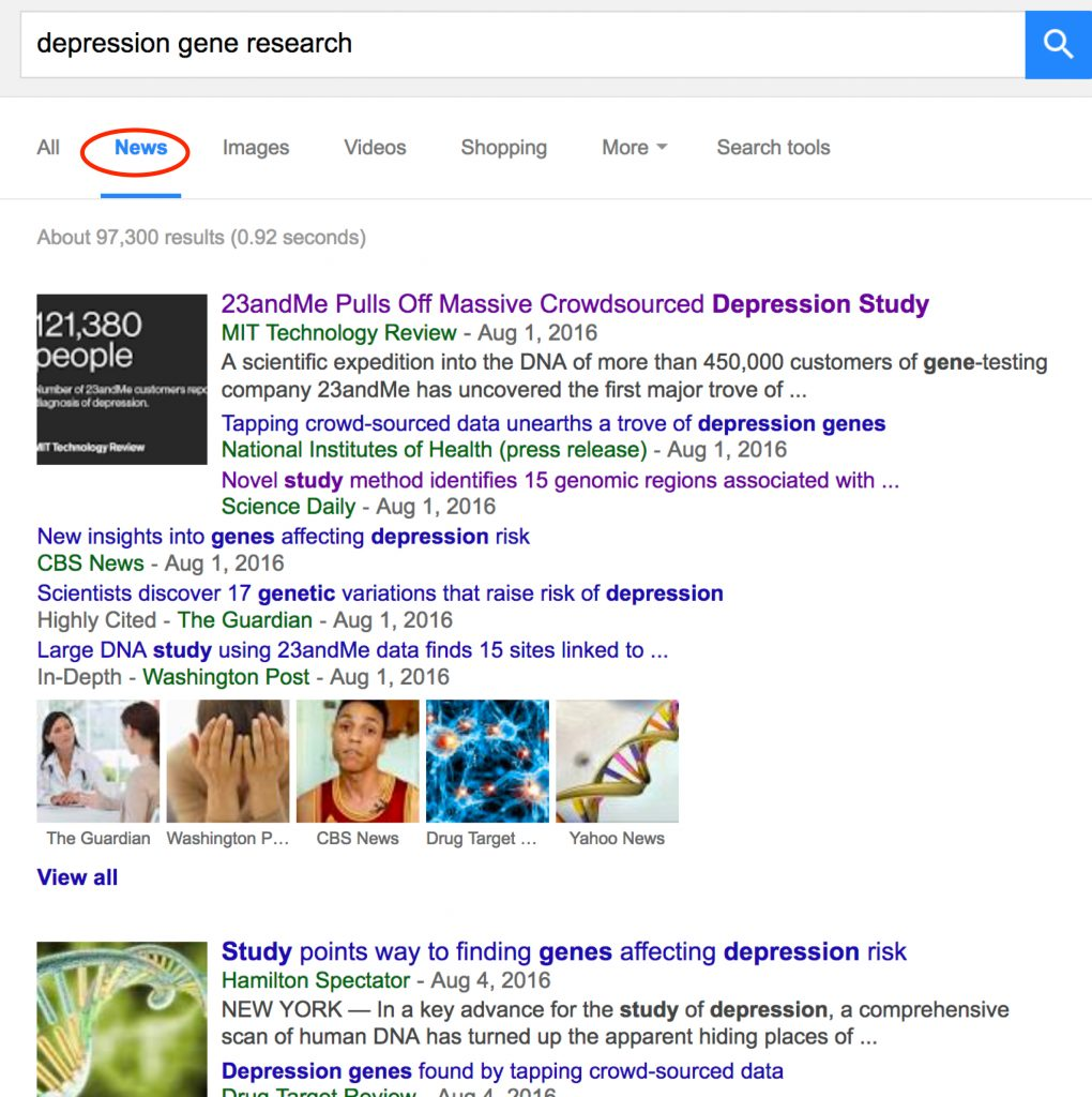 depression gene research - Google News Search-1