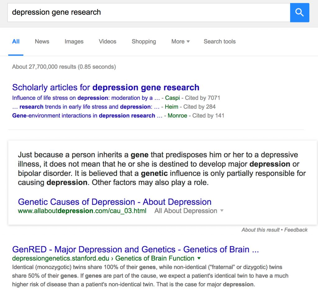 depression gene research - Google Search